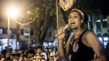 Marielle Franco speaking in 2016