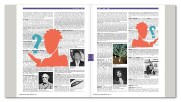 Image of the Encyclopedia Britannica Concise where photos of women are missing