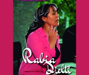 Poscard design of Algerian poet Rabia Djelti