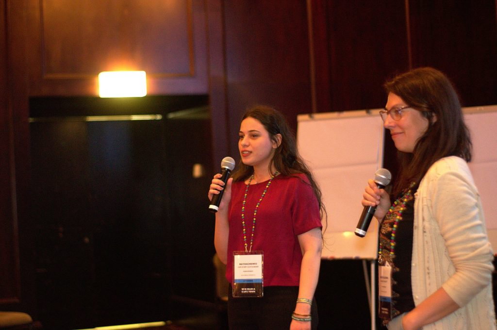 May Hachem and Mariana Fossatti at Wikimania 2018