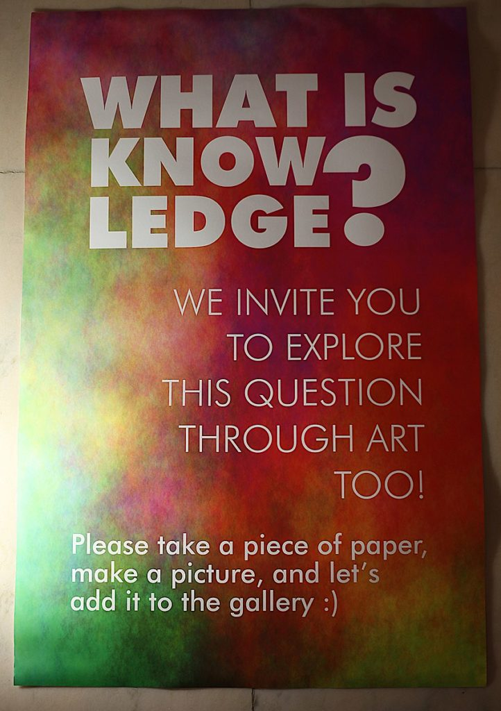 What is knowledge? art exhibition poster
