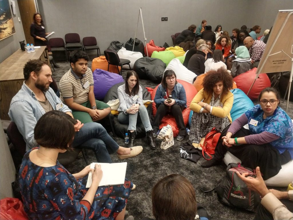 Photo of working group at Decolonizing the Internet 2018