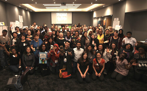 Group photo of Decolonizing the Internet attendees.