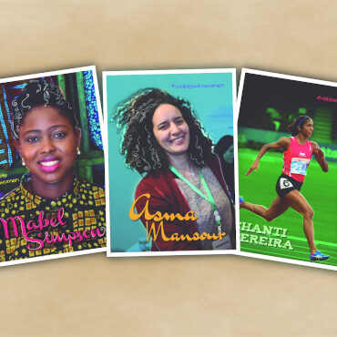 Postcard images of the VisibleWikiWomen campaign