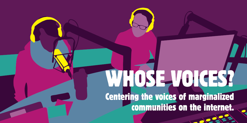 Whose Voices logo