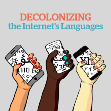 Decolonizing the Internet's Language Logo