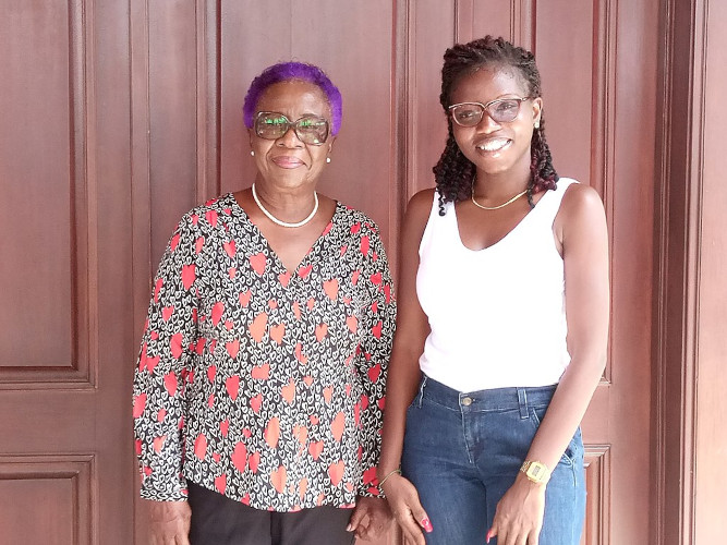 Photo of Veronica Bekoe with Pamela Ofori-Boateng